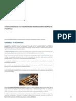 Características das Madeiras de resinosas e folhosas