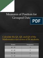 quartiles, deciles, percentiles