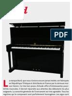 Banc Essai Bord Pianiste