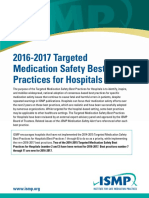 ISMP - 2016-2017 Targeted Medication Safety Best Practices for Hospitals