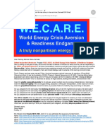 W.E.C.A.R.E. - Sample Set of 3 E-mails Sent to 23 Senators (Energy & Natural Resources Ctee.)