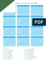 Calendario Colombia 2018