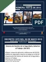 Decreto Número 1072 de 2015 -Decreto Único Reglamentario Del Sector Trabajo