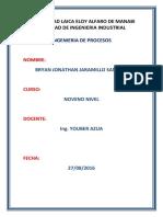 Trabajo de Ingenieria de Procesos Definiciones de Terminos