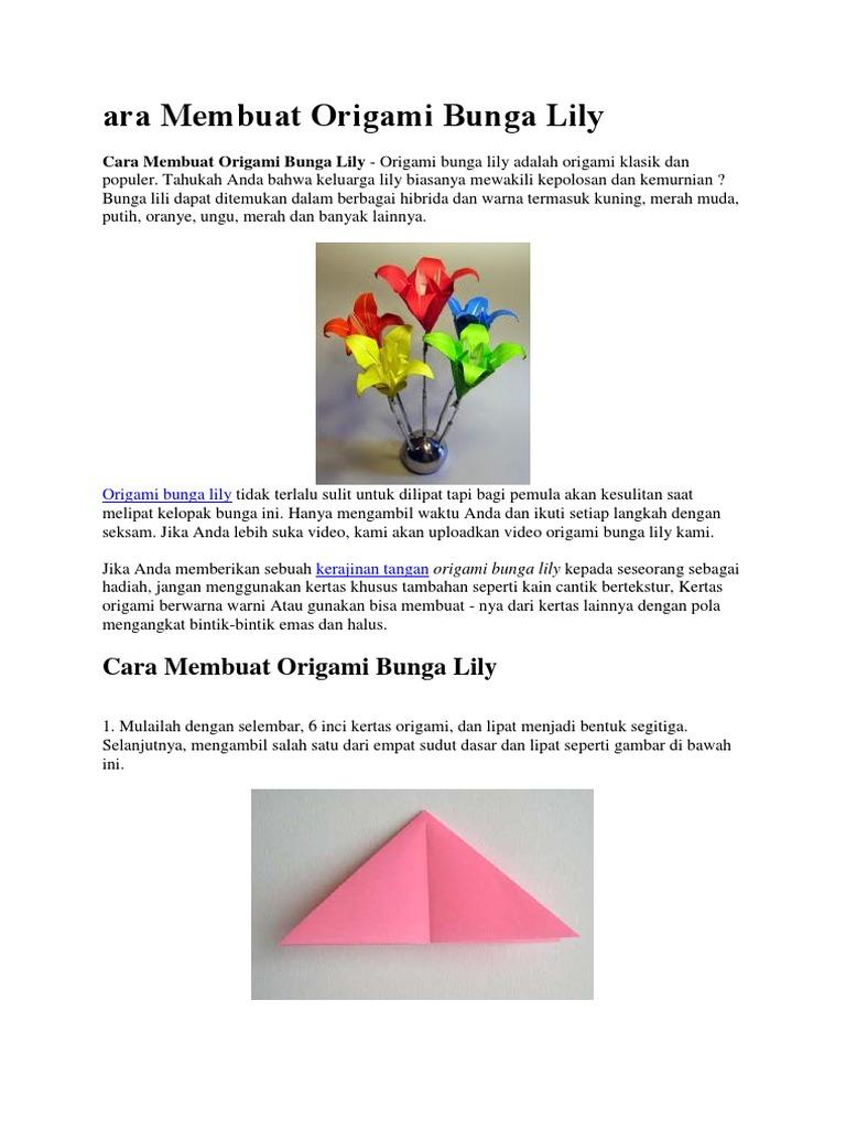 Martin's Origami: Tulip | 1024x768