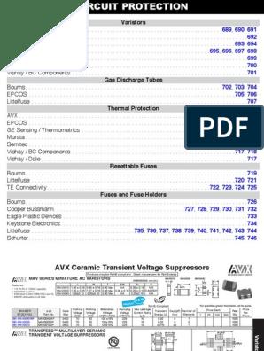 2P 800V BOURNS 2051-35-SM-RPLF GAS DISCHARGE TUBE 10 pieces 2KA