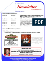 Freemasons Vic - NW District 101 September, 2010, Newsletter