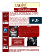 "12th Seminar on ""KIDNAP & RANSOM – INITIAL RESPONDER PROGRAMME"" on 24th Sep'2010 at USI, Delhi"
