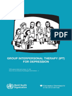 Group Interpersonal Therapy (IPT) for Depression