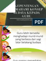 Kepentingan Memahami Konsep Budaya Kepada Guru