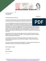 Burma Democratic Concern (BDC) Letter Friedrich Ebert Stiftung e.V.
