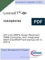 Infineon ICE2QR4765 DS v02_03 en