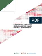 Evaluación de las Iniciativas de Desarrollo Regional (IDR) Región del Valle Calchaquí