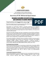 NOTA DE PRENSA N° 002- 2018 AQP SOSTENIBLE PRESENTÓ AVANCES PARA ENFRENTAR EL C.C.