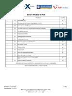 Severe Weather in Port Checklist