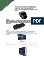 Computadora dispositivos de entrada y de salida