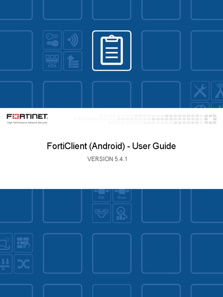 FortiClient Android 5 4 1 User Guide | Virtual Private