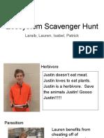 ecosystem scavenger hunts