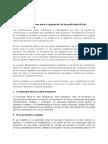 Estándares para la elaboración de la regulación de la publicidad oficial