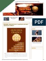 """ADMIRADORES DEL IDIOMA QUECHUA_ AFICHES_ Ilustraciones en Quechua Del Libro """"Quechua Gráfico"""""""