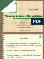 Curso Taller - Técnicas de Control Microbiológico de Ambientes y Superficies