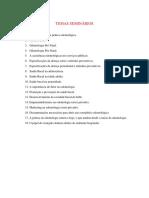 Temas Seminários - Odontologia Coletiva