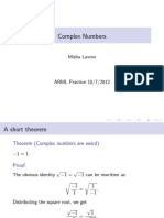 Complex Numbers 10-7-12