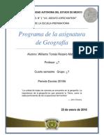 Programa Geografía 4°Semestre