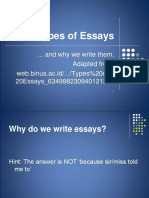 Types of Essays Contrast - Compare