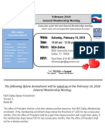 2018 February General Membership Meeting 2-10-18