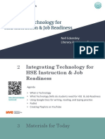 Integrating Technology for HSE Instruction and Job Readiness