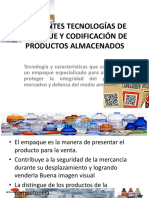 DIFERENTES TECNOLOGÍAS DE EMPAQUE Y CODIFICACIÓN DE PRODUCTOS.ppsx