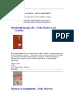 Carti in Romana_Bibliografie Licenta Management