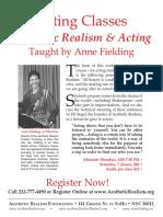AF Acting Classes Flyer