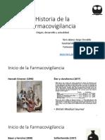 Historia de la Farmacovigilancia