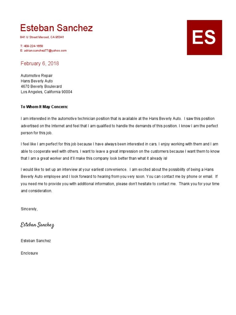 cover letter - esteban sanchez 1