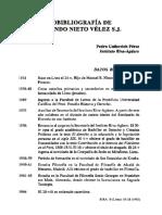 BIOBIBLIOGRAFIA DE ARMANDO NIETO VELEZ S.J.