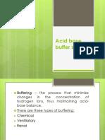 Acid Base Buffer System