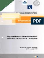 Informe Investigación Especial 24-17 Municipalidad de Talcahuano Sobre Diversas Irregularidades - Enero 2018