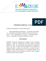 Laudo 3-2012 Cooperativas