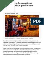 Matemática dos cassinos resolve muitos problemas práticos - 08_12_2017 - Marcelo Viana - Colunistas - Folha de S.Paulo