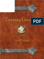 Fantasy Grounds Manual