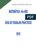 Guia Matematica 4to Ano 2012