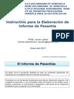 Instructivo Informe Pasantia
