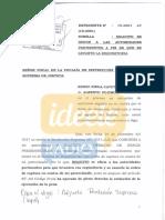 Alberto Fujimori pide que le levanten requisitoria y orden de detención tras indulto de PPK