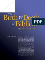 The Birth and Death of Biblical Minimalism - Yosef Garfinkel - Biblical Archaeology Review Vol 37 No 3 May-June 2011