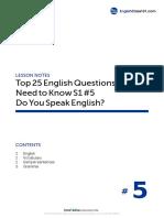 05 Do You Speak English
