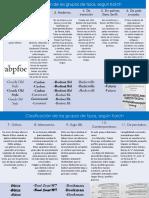 Clasificación de las tipografías según Karch y Turbull