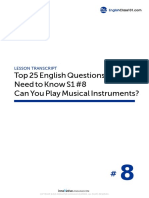 08 Can You Play Musical Instruments - Script