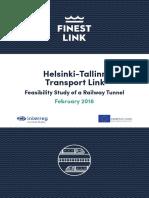 Helsinki-Tallinn Transport Link, Feasibility Study of a Railway Tunnel